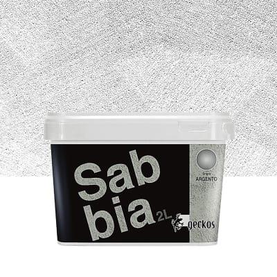 Pittura decorativa GECKOS Sabbia 2 l grigio effetto sabbiato