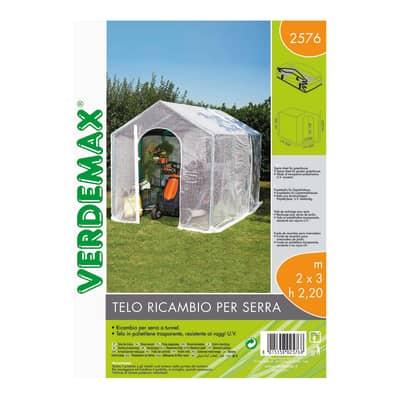 Serra da giardino VERDEMAX TELO PER SERRA BUCANEVE H 220 cm, L 200 x P 300 cm