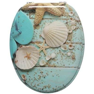 Copriwater ovale Universale Conchiglie SENSEA mdf fantasia