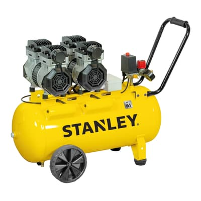 Compressore silenziato STANLEY SXCMS2652HE , 2.6 hp, 8 bar, 50 L