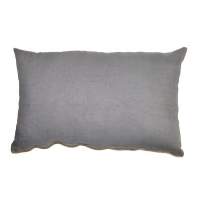 Cuscino Lino grigio scuro 40x60 cm