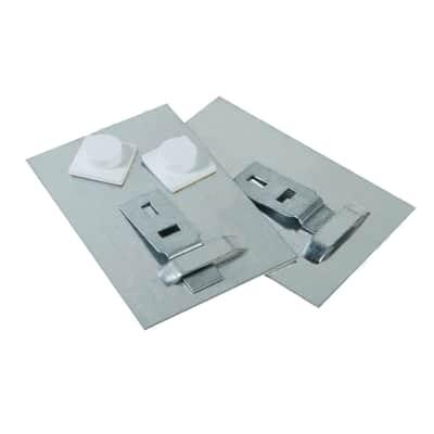 Sistema di fissaggio per lo specchio 2 placchette L 8 cm