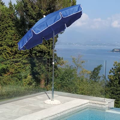 Ombrellone NATERIAL Follonica L 2 x P 1.85 m color blu
