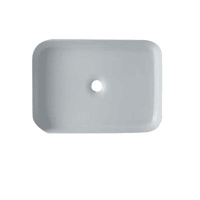 Lavabo da appoggio Rettangolare Rettangolo in ceramica L 65 x P 45 x H 10 cm bianco