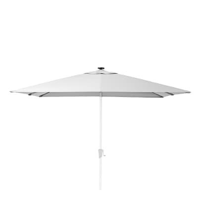 Ombrellone NATERIAL Sonora L 2.85 x P 2.85 m color bianco