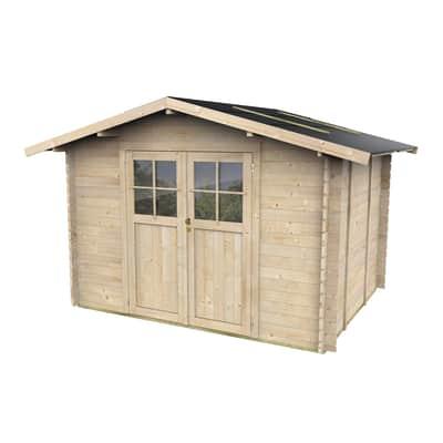 Casetta da giardino in legno Mary,  superficie interna 6.19 m² e spessore parete 25 mm
