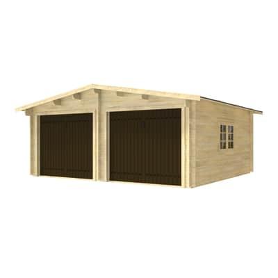 Garage in legno Garage doppio con Basculante 28.25 m², Sp 45 mm