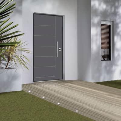 Porta blindata Termika grigio L 90 x H 210 cm sinistra