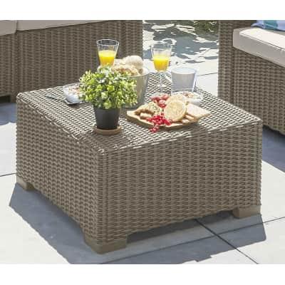 Tavolino da giardino quadrata California CURVER con piano in resina x P 68 cm