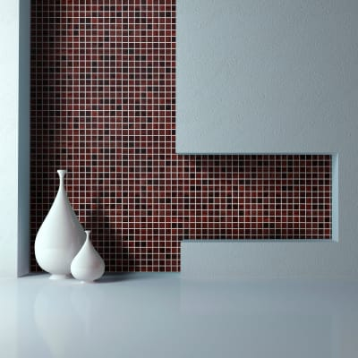 Mosaico Mosto20 H 31.8 x L 31.8 cm rosso