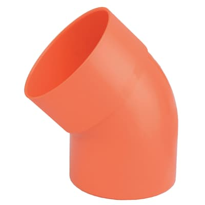 Curva arancione in PVC 45° Ø40 mm