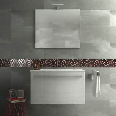 Mosaico Red & Dark H 30 x L 30 cm nero/rosso