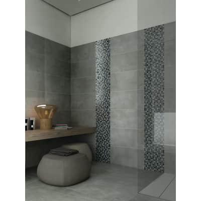 Mosaico Ice smoke H 30.5 x L 30.5 cm nero/grigio