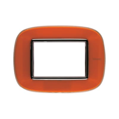Placca BTICINO Axolute 3 moduli arancio liquid