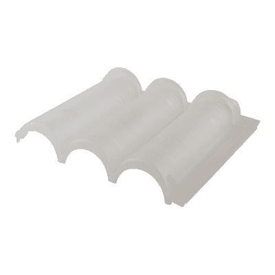 Tegola Senese in polipropilene 36 x 45 cm, Sp 5 mm glass 10 pezzi