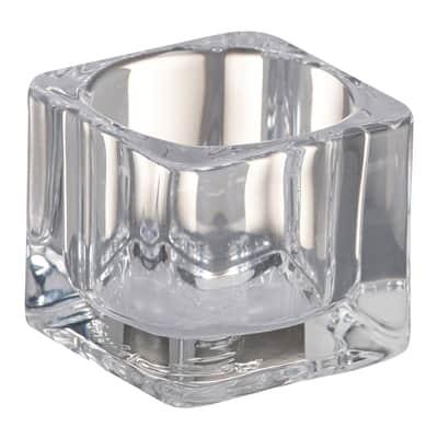 Porta tea light in vetro trasparente BOLSIUS H 4 cm, L 5.5 x Ø 5.5 cm