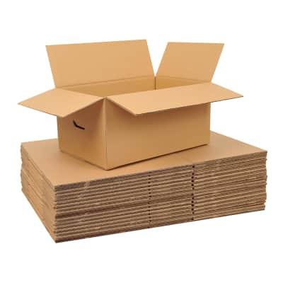 Set di 20 pezzi, Scatola da imballaggio 2 onde H 40 x L 60 x P 40 cm