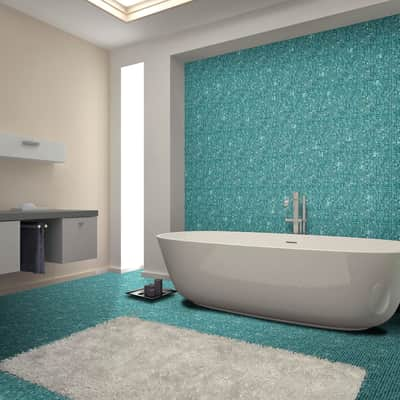 Mosaico Turchese Puro H 31.8 x L 31.8 cm azzurro