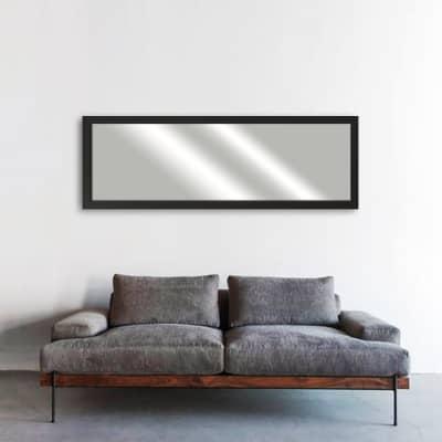 Specchio a parete rettangolare Mia nero 40x140 cm