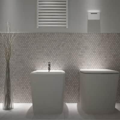 Mosaico H 28 x L 29.7 cm grigio