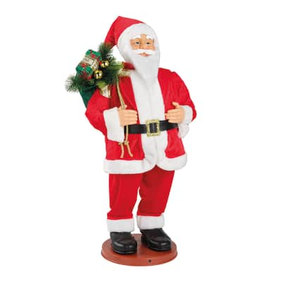 Babbo natale rosso Babbo Natale L 100 H 100 cm