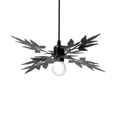 Lampadario Design Birdie antracite in vetro