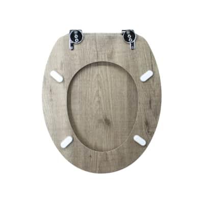 Copriwater ovale Universale Tranche mdf bianco
