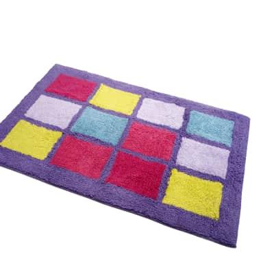 Set di tappetini rettangolare in cotone multicolor 90 x 55 cm