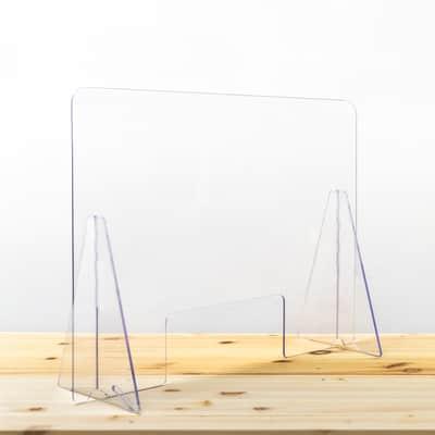 Schermo di protezione acrilico trasparente 49 cm x 70 cm, Sp 0.4 mm