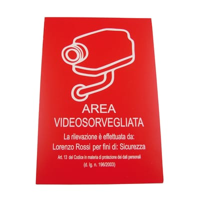 Cartello segnaletico pvc 20 x 30 cm