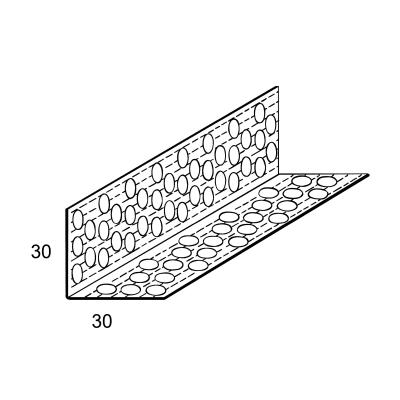 Paraspigolo Forato 30 mm x 3 m