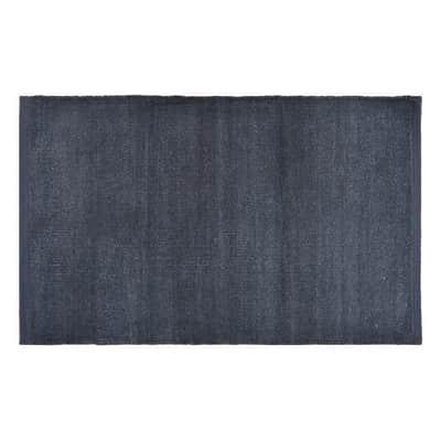 Tappeto bagno rettangolare Industrial paris 1 in 100% cotone grigio 80 x 50 cm