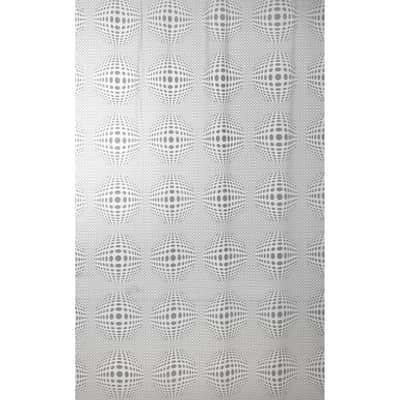 Tenda doccia Sfera in vinile grigio L 180 x H 200 cm