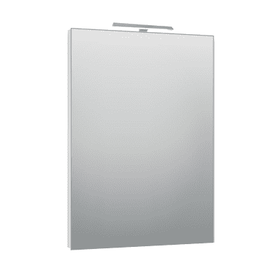 Specchio con faretto bagno rettangolare Modern L 60 x H 80 cm