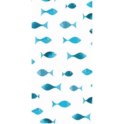 Tenda doccia Scuba in poliestere blu L 180 x H 200 cm