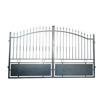 Cancello Krakatoa in ferro zincato L 300 x H 180 - 200 cm