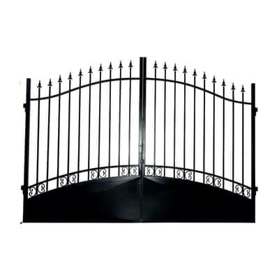 Cancello Vesuvio in ferro verniciato L 400 x H 180 - 210 cm