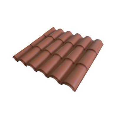 Lastra coppo ondulata TECNOIMAC in polimglass® 99 x 98.4 cm, Sp 2 mm terracotta