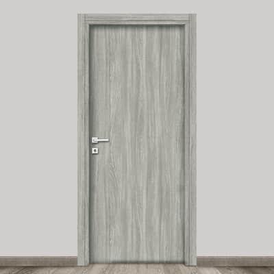Porta a battente Braque grigio L 70 x H 210 cm reversibile