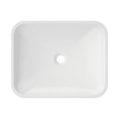 Lavabo da appoggio Rettangolare Lynn in resina L 50 x P 40 x H 40 cm bianco