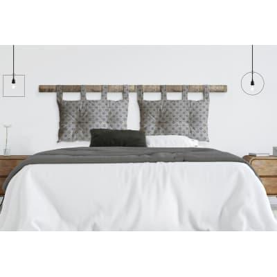 Cuscino testata letto UMA grigio 45x70 cm