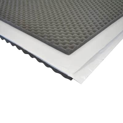 Pannello fonoassorbente adesivo bugnato 1 x 1 m, Sp 30 mm