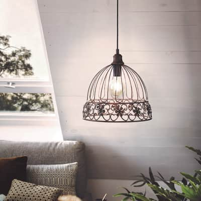 Lampadario Romantic Charm Summerhall rame in metallo, D. 31.5 cm, EGLO