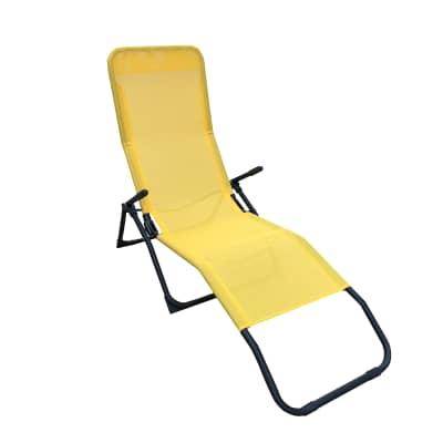 Lettino senza cuscino Fiesta in acciaio giallo