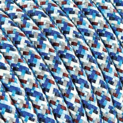Cavo tessile MERLOTTI 2 fili x 0,75 mm² turchese 3 metri