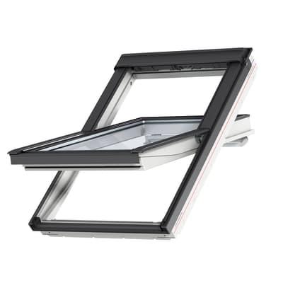 Finestra da tetto (faccia inclinata) VELUX GGU SK06 0086 manuale L 114 x H 118 cm bianco