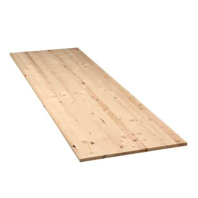Tavola compensato di legno abete L 200 x H 60 cm Sp 28 mm