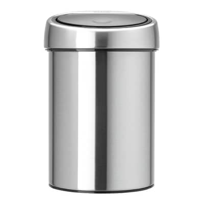 Pattumiera da bagno push Touch bin grigio / argento 3 L