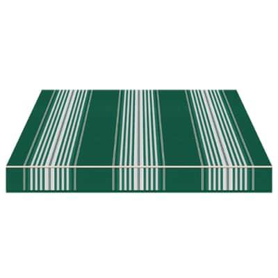 Tenda da sole a bracci estensibili manuale TEMPOTEST PARA' L 2.4 x H 2 m Cod. 638/5 avorio e verde