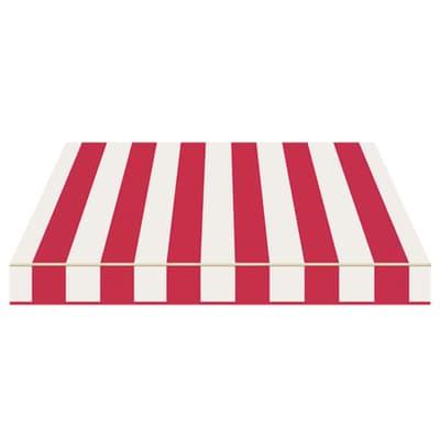 Tenda da sole a bracci estensibili manuale TEMPOTEST PARA' L 3 x H 2 m Cod. 35 rosso e avorio